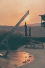 Sundowner (Tracey Rennie) Tags: okanagan oliver sundial pool burrowingowlwinery poolside smoke britishcolumbia wildfires