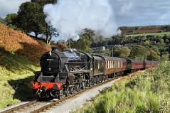 44871 Near Oakworth. (Neil Harvey 156) Tags: steam steamloco steamengine steamrailway railway 44871 oakworth keighleyworthvalleyrailway kwvr worthvalleyrailway black5 stanier lms