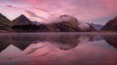 New Zealand Pink (Panorama Paul) Tags: paulbruinsphotography wwwpaulbruinscoza newzealand mokelake queenstown dawn sunrise mountains reflections pink nikond800 nikkorlenses nikfilters panorama