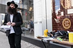 On the Lookout (UrbanphotoZ) Tags: hasidim hasidicjew traderjoes beard fedora hebrew yiddish accessories storewindow reflection upperwestside manhattan newyorkcity newyork nyc ny blackandwhite