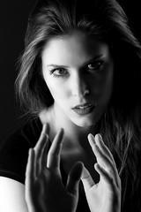 Zsuzsi Balla In the dark (dandrasphoto) Tags: canon eos 1d mk4 mkiv 70200 f4 l usm portrait portré fekete fehér ff bw blackandwhite fight facetoface f2f girl nice prety woman dark creativelights hipstudio portréfotózás