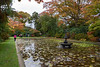 Leaves are Falling (Jocey K) Tags: newzealand nikond750 southisland christchurch monavale autumn trees pond water reflections fountain leaves waterlily people sky clouds