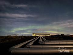 The Power & the Glory (macdad1948) Tags: iceland rekyjanes geothermal powerplant aurora nothernlights night astro stars notuk
