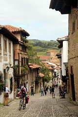 The Streets Of Santillana (Alan1954) Tags: santillana street cyclist holiday 2017 spain
