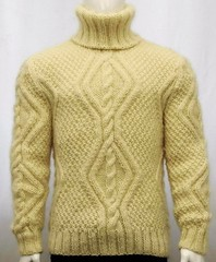 Correct turtleneck cabled wool design (Mytwist) Tags: wool aran cable knit fisherman turtleneck