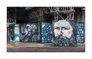 Street Art (Dynamickart, etc), East London, England.