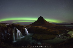 Kirkjufellsfoss Aurora (Mike Ver Sprill - Milky Way Mike) Tags: kirkjufellsfoss kirkjufell kirkjufells aurora night sky dark skies long exposure stacked starry landscape stacker sls waterfall water fall falls mountain volcano iceland icelandic october amazing stars star milky way mike michael ver sprill versprill travel explorer explore nikon d800 1424 beautiful double band rainbow arch arches nature photography best greatest 2017