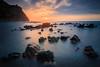 Buenavista´s Sunset (c.dourdil) Tags: mar sol sunrise tenerife buenavista blue sunscape seascape landscape largaexposicion