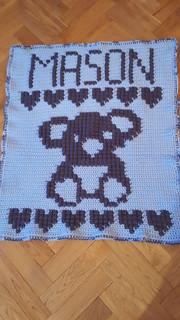 Koala blanket for Mason