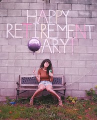 Balloon and a Beer (-liyen-) Tags: activeassignmentweekly ballon beer bench sitting person female happyretirement boredom party typography words fujix100f urban wall graffiti portrait classicchrome bestofweek1 bestofweek2 bestofweek3 cyunanimous challengeyouwinner mpt578 matchpointwinner matchpointchampion tournament