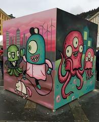 Barnslig (svennevenn) Tags: gatekunst bergen streetart barnslig monsters blekksprut octopus octopi
