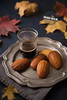 Honey and Cinnamon Madeleines (vanilllaph) Tags: honey madeleine madeleines sweet cake shell shape cup coffee cafe glass plate dessert french recipe bake baked baking colorful autumn mood leaf cook cooked bakery vertical delicious taste tasty cookbook menu food homemade drink drinking warm