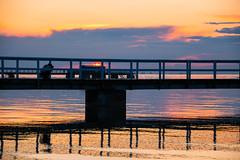 Sunset (Maria Eklind) Tags: ribersborg bridge himmel slhuette sweden outdoor ribban colorful öresund malmö strand silhouette solnedgång water brygga sunsetlight beach brygga2 sunset sky skånelän sverige se