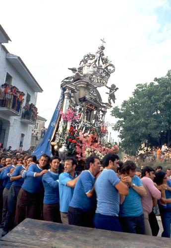 Casaluce (CE), 1972, Traslazione da Aversa a Casaluce del quadro della Madonna di Casaluce.