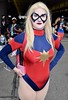 DSC_0106 (Randsom) Tags: newyorkcomiccon 2017 nyc convention october5 nycc comic book con costume newyorkcity october7 cosplay marvelcomics marvel superhero avengers captainmarvel caroldanvers superheroine heroine blonde spandex red blue javits october6 msmarvel piercing mask