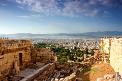 Athens from Acropolis (ika_pol) Tags: athens acropolis greece geotagged ancient ancientgreece antiquity ancientruins partenon architecture ancientarchitecture
