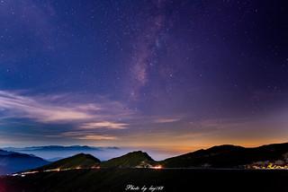 武嶺三連峰銀河