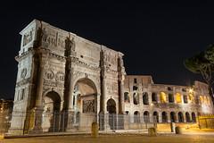 Arc de constantin (nietsab) Tags: arc constantin rome colisée roma italie italy nuit night nietsab canon 600d