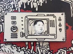 Toronto 2017 (bella.m) Tags: graffiti streetart urbanart toronto canada art kimjongun northkorea nuclearmissilelaunch