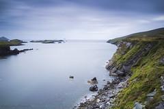Bray head (Kieran Culleton) Tags: ireland kerry canon seascape sea rocks 24105 longexposure skelligs skellig islands water milkywater beach sky slow slowshutter clouds green