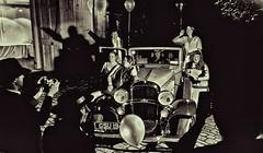 Having a Ball (ye sons of art) Tags: ball fundraiser 1920s americanmuseuminbritain bath banes england uk oldsmobile fancydress car prohibition claverton photographers monochrome