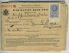 World War 2 war ration book
