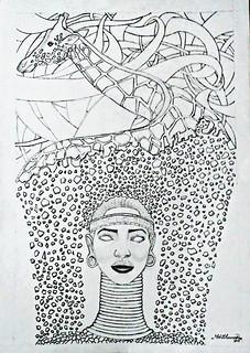 Drawing on process by mohit kumar rao artist 2017