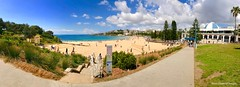Coogee Beach, from Dunningham Reserve, Coogee, Sydney, NSW (Black Diamond Images) Tags: dunninghamreserve coogeebeach coogee sydney nsw australia beach australianbeaches sydneybeaches iphone appleiphone7plus iphone7plus panorama appleiphone7pluspanorama iphone7pluspanorama iphonepanorama sand sky