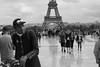 Eiffel Tower (michael.mu) Tags: paris leica 50mm noctilux leicanoctiluxm50mmf095asph m240 eiffel eiffeltower streetphotography bw blackandwhite france trocadero