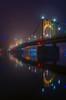 Foggy Glow Vertical (Brad Truxell) Tags: hdr pittsburgh fog exposureblending bridge river alleghenyriver city robertoclementebridge northshore nikond7000