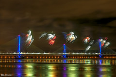 Mersey Gateway Bridge Fireworks 7 (Bob Edwards Photography - Picture Liverpool) Tags: 2017 bridge cheshire crossing gateway halton mersey merseyflow october13th river runcorn transport vehicles widnes