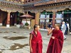 Laughing Buddhas (Protikz Flikz) Tags: dzong buddhistmonastery pagoda drukyul shangrila paro buddhistmonk littlebuddha buddhism buddha rinpungdzong bhutan