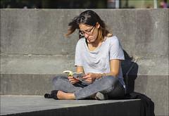 La lectrice (107/365) (chando*) Tags: 365 book brussels bruxelles femme gens laurentgounelle lectrice lecture livre parcducinquantenaire people project365 reader reading streetphotography woman