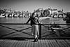 #Paris #PontDesArts Sunnny day in Paris..video coming soon! #Leica #LeicaCamera (albericjouzeau) Tags: blackandwhite noiretblanc monochrome urban city paris laseine pontdesarts ville capitale river woman femme shooting tournage enjoy leica leicacamera