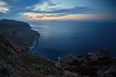 5 Islands: Folegandros – View (Thomas Mülchi) Tags: cycladesislands cyclades 2016 folegandros spring islandhopping southaegean greece landscapesandseascapes dusk view cliffs sea sunset egeo gr