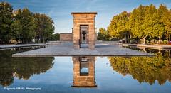 Egypt in Madrid (Ignacio Ferre) Tags: egypt españa spain madrid arquitectura architecture nikon reflejo reflection agua water templodedebod parquedeloeste egipto templeofdebod temple templo parque