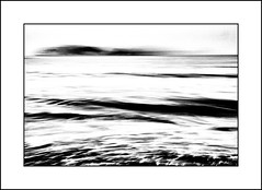 Contemplation (SK Monos) Tags: monochrome blackwhite icm seascape lestartit catalunya catalonia spain coastscape sea illes medes movement barefoot sand contemplation canon