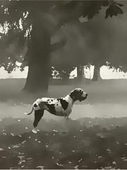 Milano - Giardini Indro Montanelli (Valde65) Tags: bnwitalian bnwplanet biancoenero noiretblanc bnwcaptures bnwphotos bnw milan indromontanelli parks cani dogs gardens giardini milano