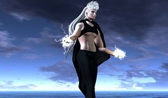 Elemental (Winter Jefferson) Tags: winterjefferson secondlife halloween cosplay costume storm xmen genderbending beusy noche riot frios ororo