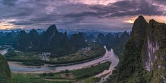 *Guilin @ Xianggong Mountain* (albert.wirtz) Tags: china guilin xianggongshan xianggongmountain landscape landschaft liriver liflus flus river stream water forest sunrise sonnenaufgang panorama panoramic asien asia landofthousandmountains mountains nikon d810 dramatic dramatik morgenlicht morninglight hiking trail wandern photogenic travelling reisen natur nature natura paesaggi karst yangshuocounty yangshuo xianggong hebaomountain jinshouyandi xingpingtown twilight bluehour reflections spiegelung xingping blauestunde goldenhour goldenestunde li guangxi chinalandscape rural albertwirtz paysagens landscapephotography landschaftsfotografie
