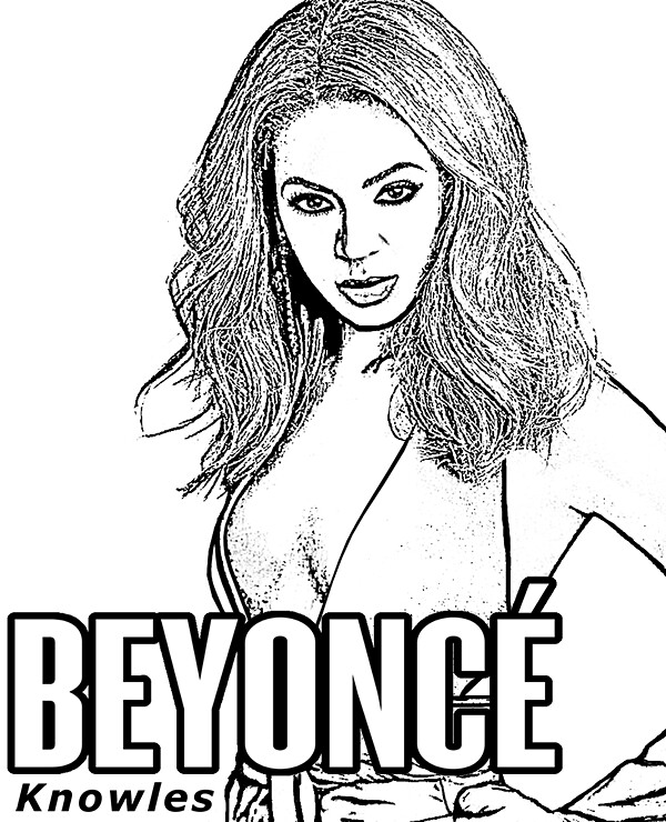 beyonce to color for free lastfreelogin tags beyonce knowles coloring sheets pages book - Beyonce Coloring Book