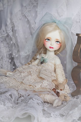 Precious Candy (AyuAna) Tags: bjd ball jointed dollfie dolls doll ayuana design handmade ooak clothing clothes dress set fantasy romantic lace style yosd size whiteskin sewing crafting
