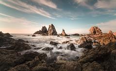 Camel Rock sunrise (laurie.g.w) Tags: camelrock sunrise rocks water sky bermagui southcoast nsw ocean shoreline seascape waterscape coast samyang14mm wideangle longexposure