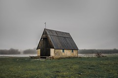 foggy afternoon (lovetydén) Tags: photography landscape landscapephotography cold fall house fog visby sweden gotland