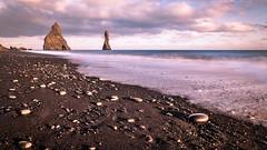 The black sand beach - Iceland - Travel photography (Giuseppe Milo (www.pixael.com)) Tags: iceland sand landscape sunset travel nature reynisfjara seascape beach black sea rocks is onsale