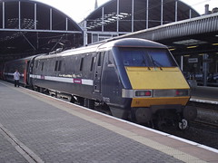 91132 090910 (Rob390029) Tags: 91132 east coast trains class 91 electric loco locomotive newcastle central railway station ncl ecml mainline tyne wear tyneside northeast north train track tracks rail rails travel travelling transport transportation transit public