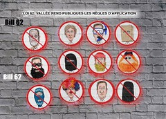 Ban face covering (Grain Sand) Tags: bill62 facecovering ban canada quebec people drawing cartoon politics publicdomain burqa nigab hijab burka drawings canadian poster portrait beard quebecreligious neutralitylaw religiousneutralitylaw meme brichwall brick
