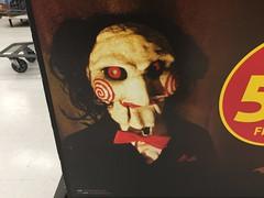 Billy the Puppet (splinky9000) Tags: kingston ontario wal mart halloween dvd bucket horror movies saw billy the puppet jigsaw killer john kramer