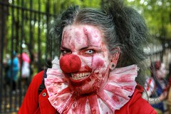 London Zombie Walk 2017 XXX (Lee Nichols) Tags: londonzombiewalk2017 worldzombiedaylondon2017 worldzombieday zombie zombies zombiewalk stmungos photoshop london wzd2017 clown red cmwd cmwdred