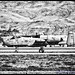 A-10 About to Launch From Gowen Field in Black & White